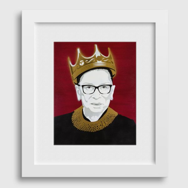 Notorious RBG poster in frame