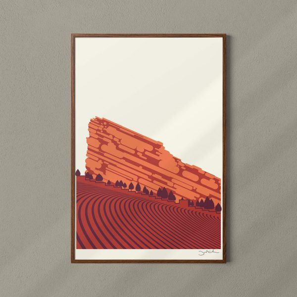 Red Rocks Concert Poster