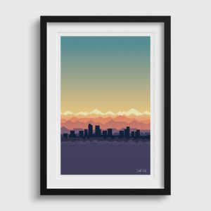 Mile High Sky Denver Skyline Poster