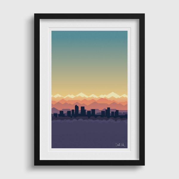 Mile High Sky Denver Skyline Poster