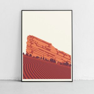 Red Rocks Art Print